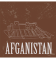 Afganistan landmarks Retro styled image
