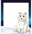 An empty template with a polar bear vector image