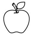apple fruit design vector image vector image