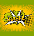 background with boom comic book explosion vector image vector image