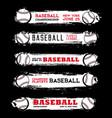 baseball league championship grunge banners vector image