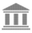 black dotted library building icon vector image