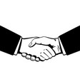 business handshaking black and white vector image vector image