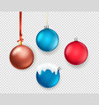 christmas matte color baubles collection objects vector image vector image