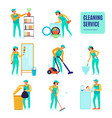 cleaning service icons set vector image