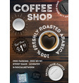 coffee shop flyer template vector image