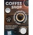 coffee shop flyer template vector image vector image