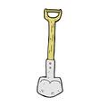 comic cartoon shovel vector image