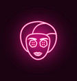cosmetic face mask neon icon elements of vector image vector image