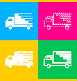 delivery sign four styles icon on vector image vector image