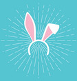 easter bunny ears mask design vector image