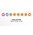 emoji like and thumb up icons customer vector image vector image