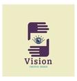 Eye Logo vision Creative Vision Logotype vector image