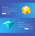 faceted gemstones of bright colors promo pages vector image vector image