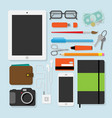 flat design style of every day things vector image
