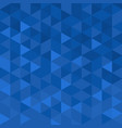 geometric modern background with blue mosaic vector image vector image
