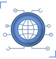 global network communication icon vector image