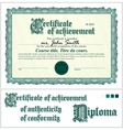 Green certificate Template Horizontal vector image vector image