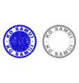 grunge ko samui scratched stamps vector image vector image