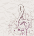 Hand drawn treble clef and notes vector | Price: 1 Credit (USD $1)