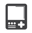 handheld game console icon vector image