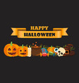 happy halloween composition on vector image vector image