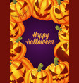 happy halloween poster background card vector image