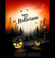 holiday halloween spooky background vector image vector image