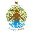 human being standing alternative medicine concept vector image
