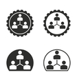 Human interaction icon set