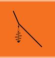 icon of fishing feeder net vector image vector image
