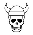 isolated skull head design vector image