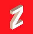 isometric letter z vector image