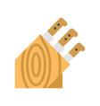 knife holder knife block icon flat style vector image