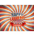 Labor day celebration background vector image