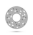 labyrinth icon flat template design element vector image