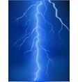 lightning on blue background vector image vector image
