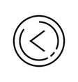 line art left arrow icon in trendy flat style vector image vector image