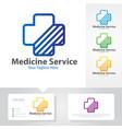 medicine service logo vector image vector image