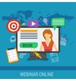 online webinar e-learning professional lectures vector image vector image