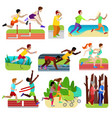 people fitness running athlet character vector image vector image