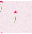 pink watercolor flowers seamless pattern vector image vector image