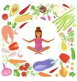 pregnant woman diet vector image vector image