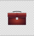 realistic briefcase red for business isolated vector image vector image