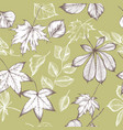 seamless pattern autumn pattern hand vector image