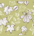 seamless pattern of autumn pattern hand vector image