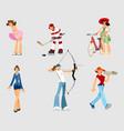 set of different women vector image vector image