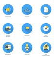 Set of Flat Design Business and Shopping Icons vector image vector image