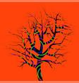 single magic tree vector image vector image