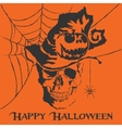 skull Happy Halloween vector image